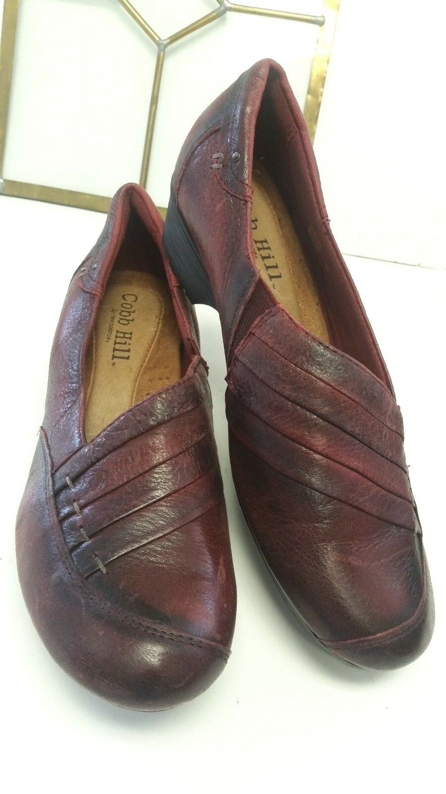Cobb HilL damen damen damen Burgundy Leather Comfort schuhe HUGE SALE 7.5w EUC d35958