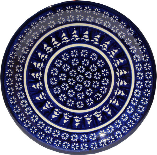 Polish Pottery Dinner Plate 11  GU1014 243a from Zaklady Boleslawiec
