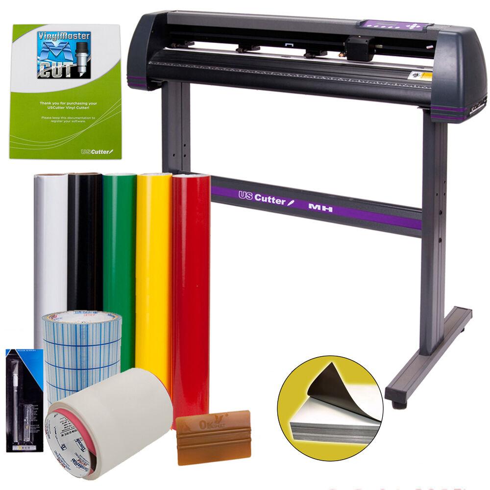 USCutter Vinyl Cutter Best Value Sign Decal Making Kit w/Design Cut Softwr -SALE