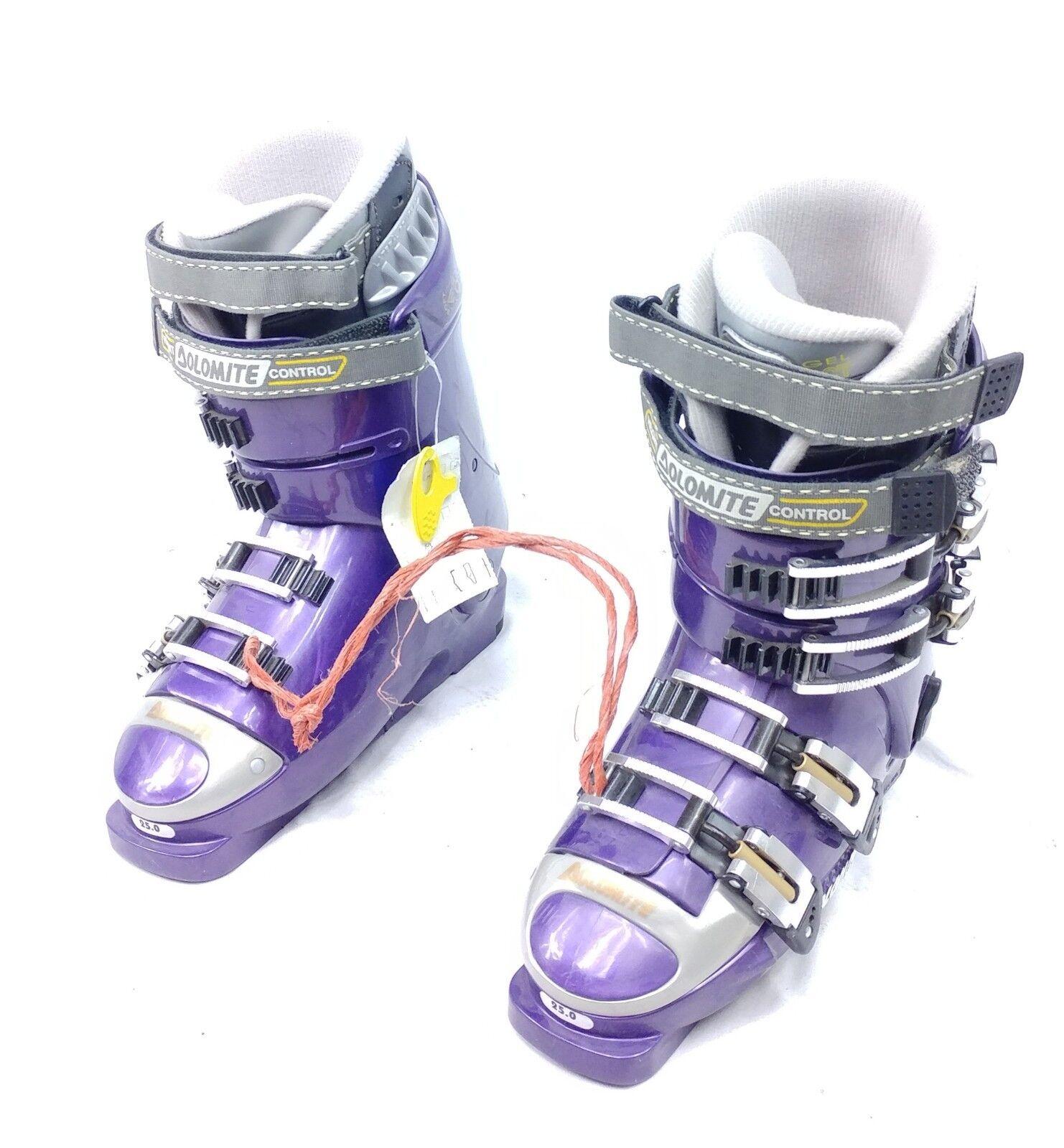 Ladies ski boots, New Dolomite CYB-X 5 size 25.5 purple Ski Boots, hi end