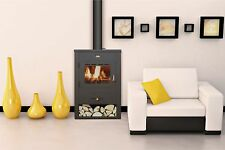 Wood Burning Stove Fireplace Log Burner Solid Fuel Prity K13 FREE GIFT incl