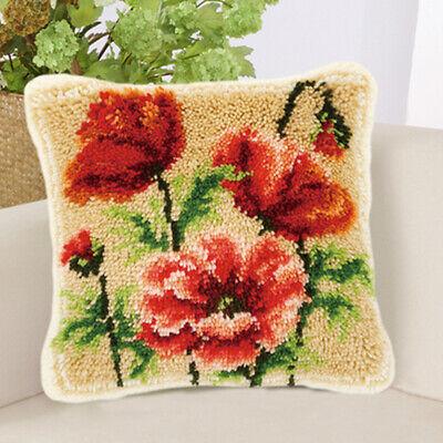 Funny Animal Flower Latch Hook Rug Kits Pillow Case Making For Kids Beginner Ebay