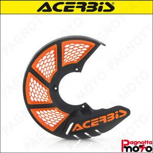 COPRIDISCO PROTEZIONE DISCO ACERBIS XBRAKE 2.0 FRONT DISC COVER NERO ARANCIONE