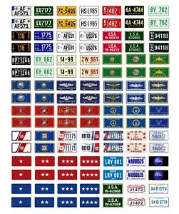 1//18 scale model car assorted USA 2000 license plates state tags 1:18