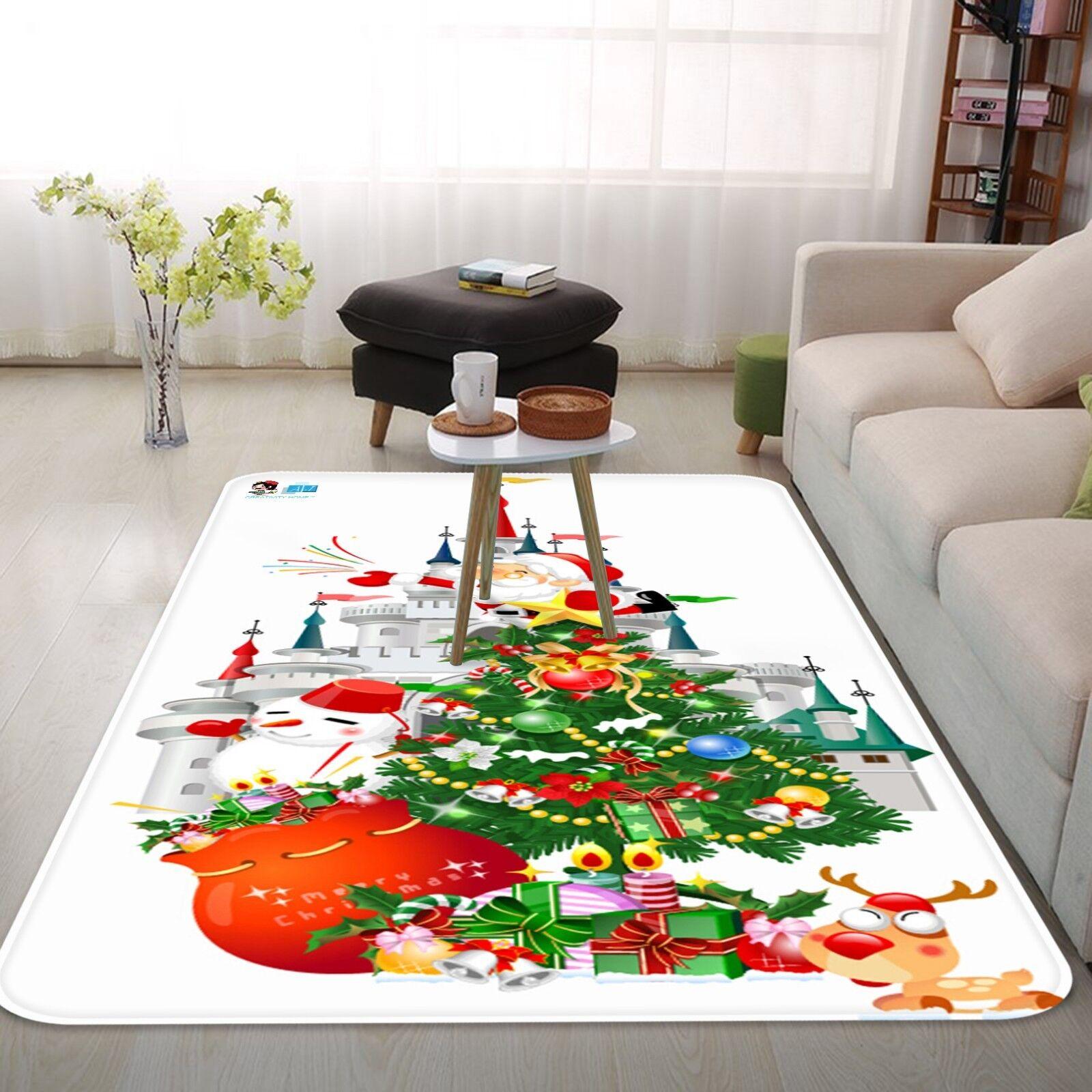 3d Natale Xmas 20 antiscivolo tappeto bagagliaio Qualità Tappeto Elegante De