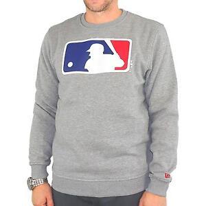 New-Era-NOS-Crew-MLB-Logo-Sudadera-Jersey-de-hombre-gris-claro-mezclado-30908