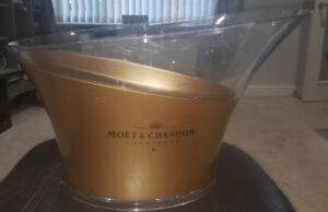 Large-Party-Size-Moet-amp-Chandon-Champagne-Ice-Bucket-Transparent-And-Gold