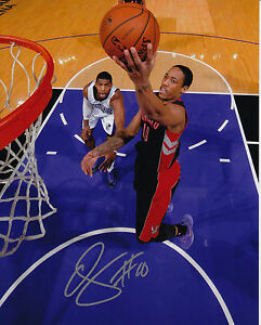 705c30850 Image is loading Toronto-Raptors-Demar-DeRozan-Signed-NBA-Basketball-8x10-