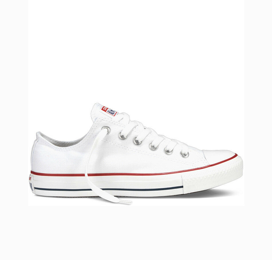 Converse All Star Chucks OX CANVAS bianca m7652c NUOVO