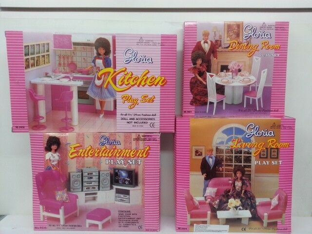 Gloria, Barbie Doll House Furniture,Kitchen,Dining,Entertainment,Living room