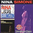 Sings Duke Ellington/At Carnegie Hall by Nina Simone (CD, Mar-2006, Collectables)