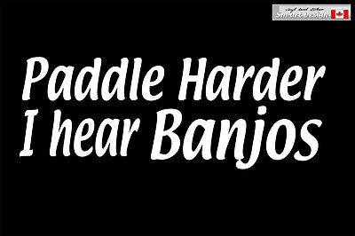 PADDLE HARDER kayak canoe river sea  ACCESSORIES VINYL DECAL STICKER