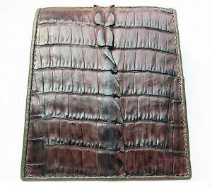Kango Brown Genuine Crocodile Alligator Tail Skin Leather