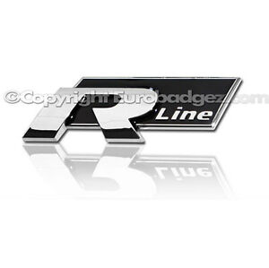 1 new vw r line badge emblem golf gti jetta passat rear. Black Bedroom Furniture Sets. Home Design Ideas