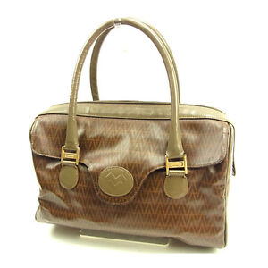 Image is loading Valentino-Boston-bag-Brown-Woman-unisex-Authentic-Used- 2661d4ac121d4