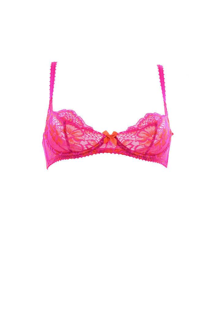 L'Agent By Agent Provocateur Women's Cara Bra Pink orange 36E RRP  BCF84