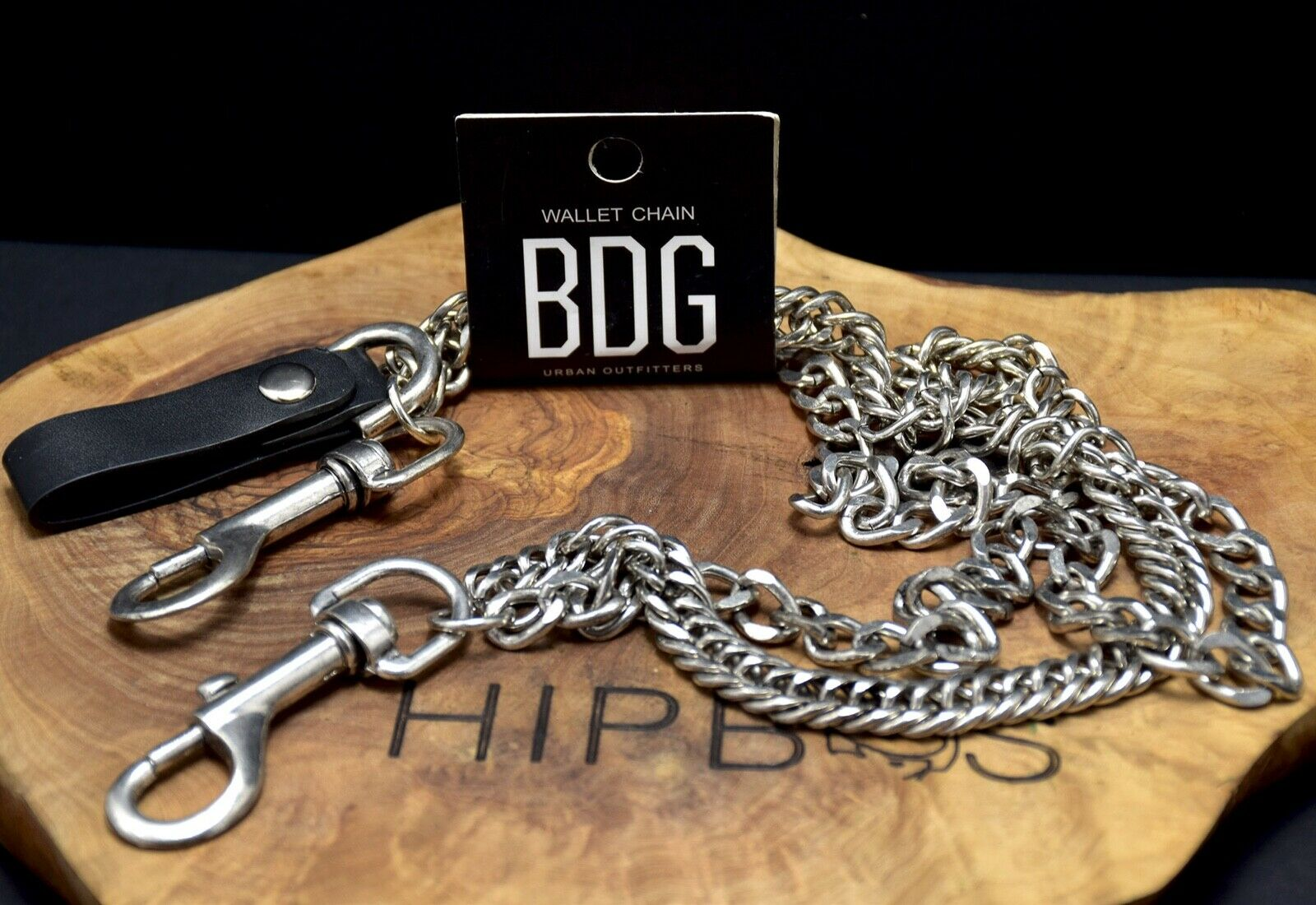 Urban Outfitters BDG Silver Metal Double Chain Wallet Clip Retro 90s