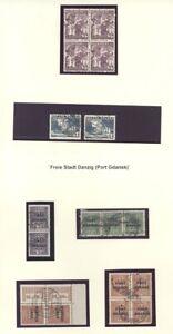 Danzig-Port-Gdansk-2-Albumblaetter-mit-gestempelten-Einheiten-25716