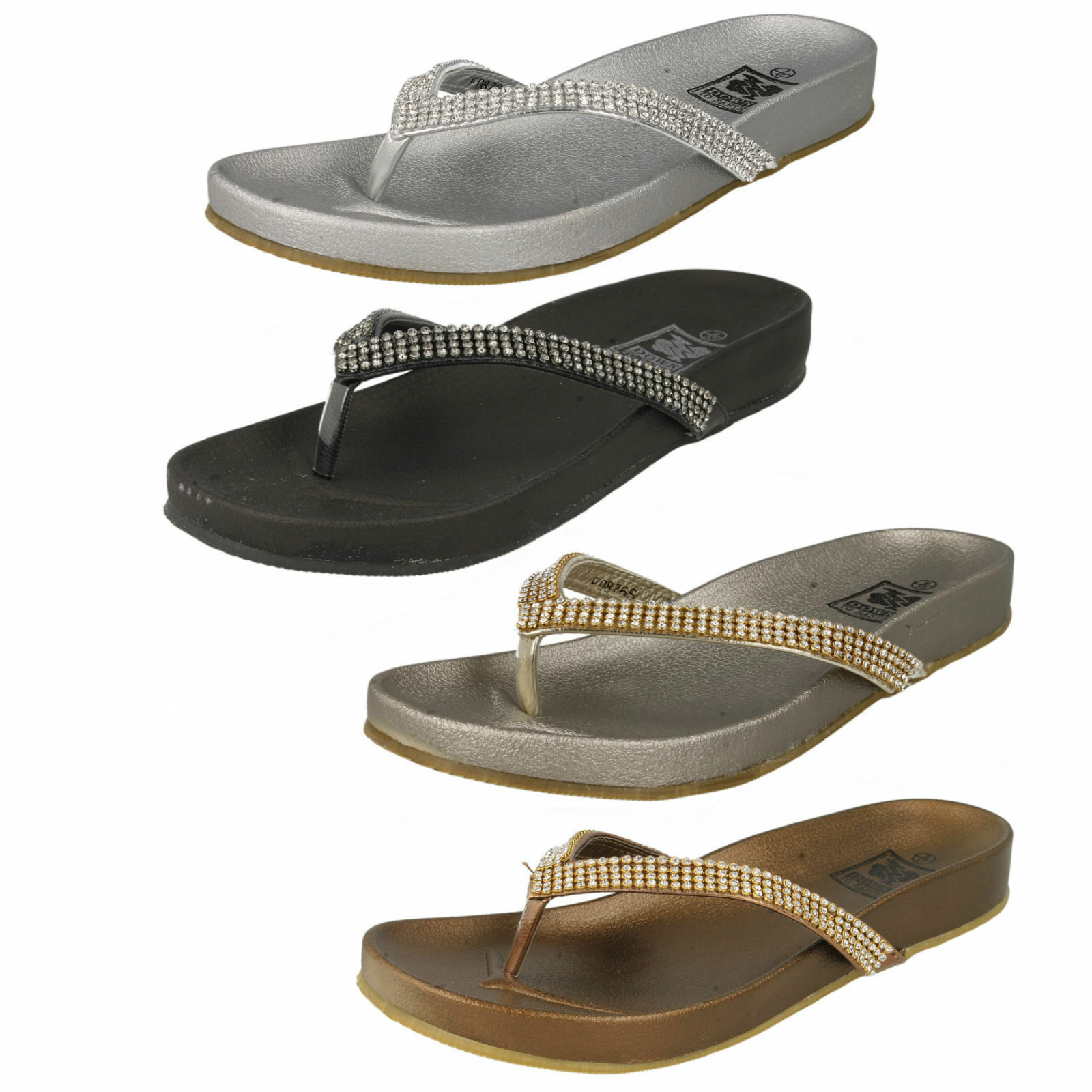 SALE Ladies F0876s Toe Down post flip flops By Down Toe To Earth Retail 5db167