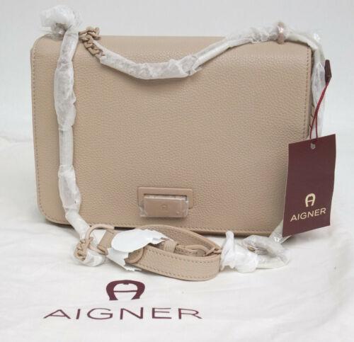 AIGNER Mini-Handtasche Lucy Leder beige  NEU  Umhängetasche