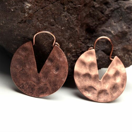 Bronze Antique Brass Red Copper Drop Earrings Jewelry Dangle Earrings Retro