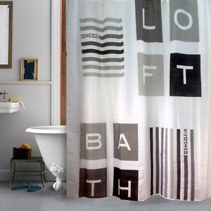 Image Is Loading Loft Industrial Style Shower Curtain Bathroom Waterproof Fabric