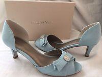 Jacques Vert Shoes Pale Blue Jewel Detail Occasion Size 7