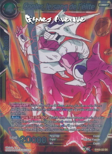 Cooler le Sang de l/'Elite EX03-22 VF//FOIL Dragon Ball Super Card Game
