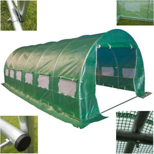 Polytunnel-6-m-x-3-m-Qualite-6-Section-Serre-Galvanise-Cadre-Pollytunnel