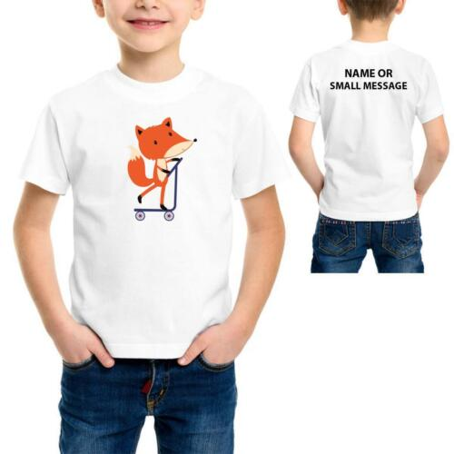 Scooter Fox cartoon   Kids boys Funny cool printed T-Shirt