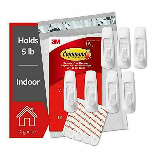 7 Hooks Command Large Utility Hooks 12 Strips Organize and decorate