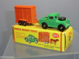 Dinky Dublo Modèle No.073 Landrover & Box Box Vn Mib
