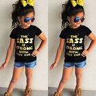 2-6Y Summer Toddler Baby Girls Print O Neck Tops T-Shirt Short Sleeve Cotton Tee