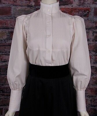 FRONTIER CLASSICS Natural Victorian Alma Blouse Steampunk Dickens Tea Party