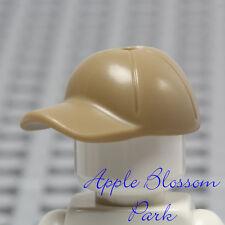 NEW Lego Minifig Dark TAN BASEBALL CAP -Boy Girl Minifigure Sports Hat Head Gear