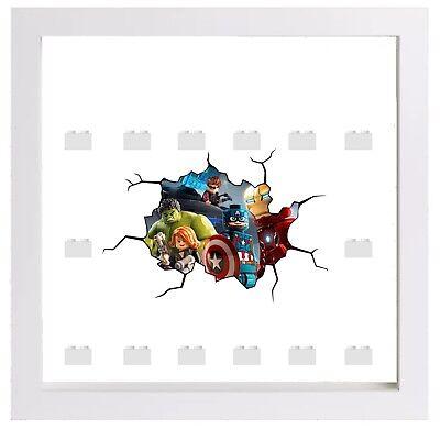 Minifigures Display Case Frame Lego Marvel Thor Avengers cracked style