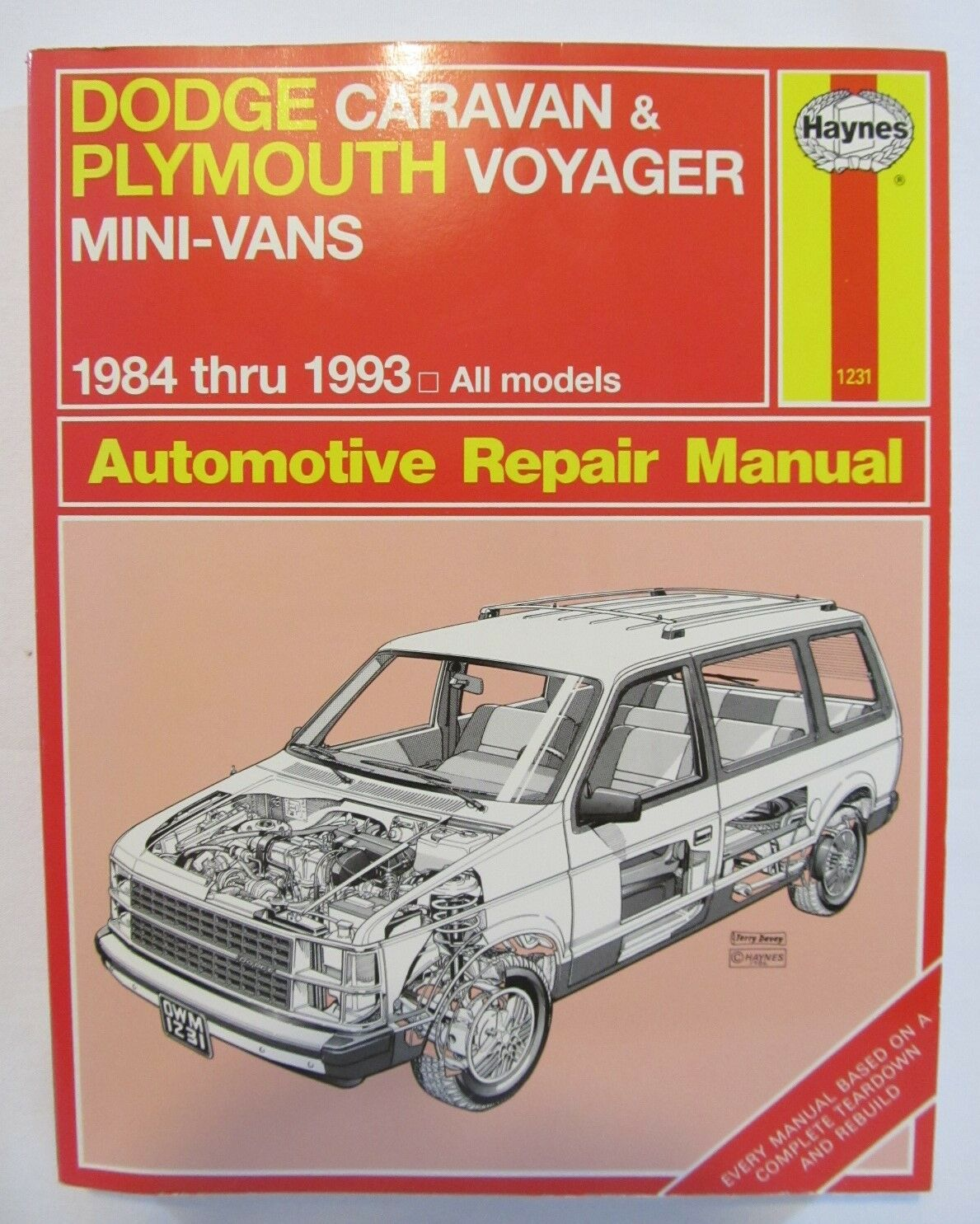 1984-1993 Dodge Caravan & Plymouth Voyager Automotive Repair Manual Haynes  1231 | eBay