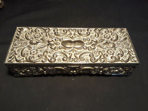 Vintage Decorative Silver Tone Godinger Jewelry Box Case With Mirror Ebay