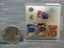 Dollhouse Miniature Baby Food Set  7 Blue Bottle 1:12 scale G89A Dollys Gallery