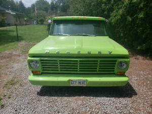 1967 Mercury F100 Pickup truck Custom Build