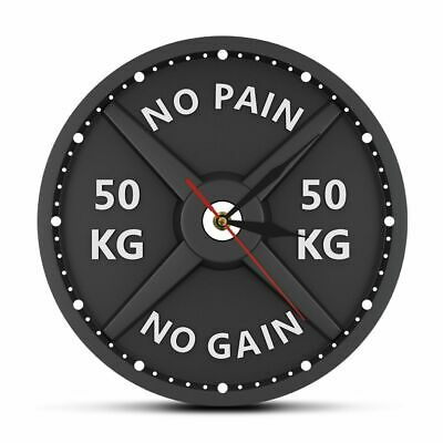 Wall Decal Room Sticker bedroom no pain no gain quote weights gym logo bo3248