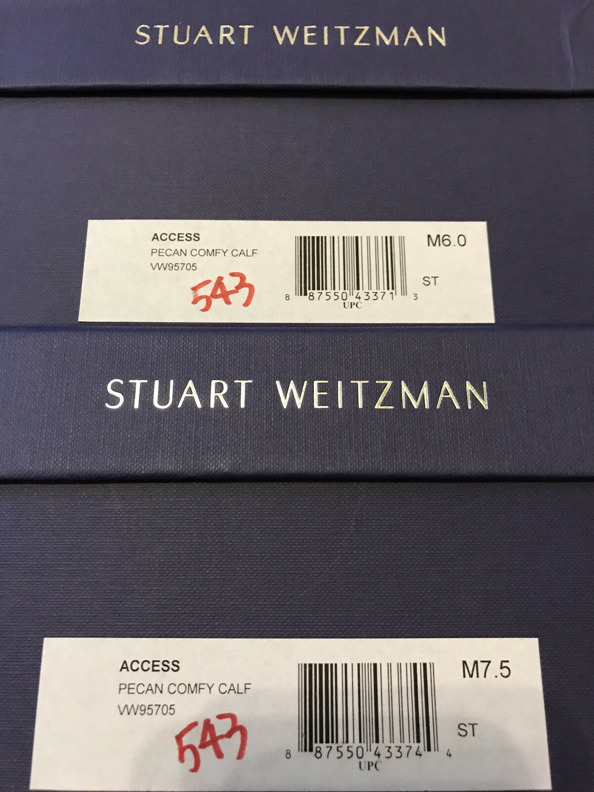 NIB PECAN Stuart Weitzman Access block heel Sandale PECAN NIB CALF 6 7 7.5 8 77e724