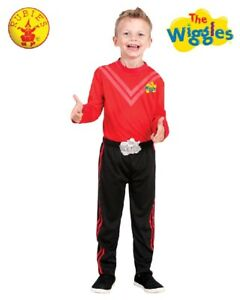 THE-WIGGLES-Deluxe-Costume-SIMON-Red-Wiggle-Dress-Up-size-3-5-or-1-3yr-NEW