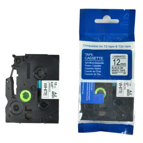 Kompatibles Brother TZ-231 TZ231 P-Touch Schwarz auf weiß Etikettenband 12mm
