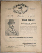 H H Holmes Wanted Poster, Pinkerton, Murder Castle