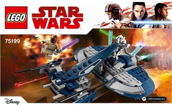Lego 75199 Set General Grievous Combat Speeder Star Wars Clone Wars