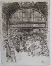 STEINLEN THEOPHILE LITHOGRAPHIE 1916 SIGNÉE AU CRAYON HANDSIGNED LITHOGRAPH