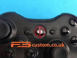 custom xbox 360 deadpool guide button f3custom ebay rh ebay ie Xbox 360 Controller Xbox 360 System Settings