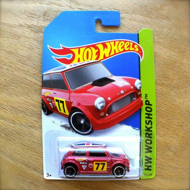 2014 Hot Wheels MORRIS MINI 194/250 HW WORKSHOP diecast Mattel UNION JACK red