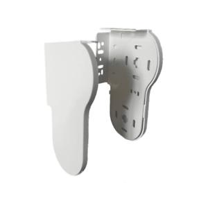 1 X 38mm Slim White Double Roller Blind Brackets Matching